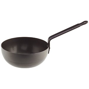 Mauviel Made In France M'Steel Black Splayed Curved Sautテδゥ Pan, 8/20cm, Steel by Mauviel