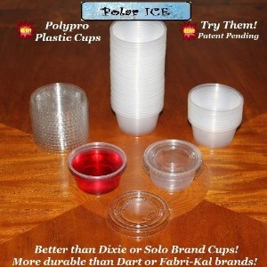 Polar Ice Disposable Plastic Glasses with Lids, 2-Ounce, Translucent, 500-Pack [並行輸入品]