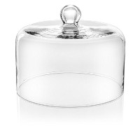 IVV Glassware 6975/1 Le Campane Cake Pie Pastry Cheese Dome, 7-1/2-Inch Height by 10-1/4-Inch Round...