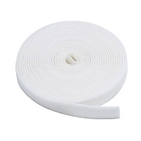 Monoprice Fastening Tape 0.75inch One Wrap Hook & Loop Fastening Tape 5 yard/Roll - White [並行輸入品]