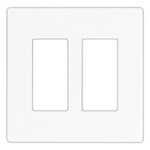 Cooper Wiring Devices PJS262W Decorator Screwless Wallplate, 2-Gang, White [並行輸入品]