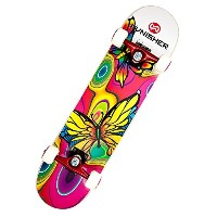 Punisher Skateboards Butterfly Jive Complete 31-Inch Skateboard with Canadian Maple [並行輸入品]
