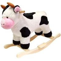 Happy Trails Cow Plush Rocking Animal [並行輸入品]