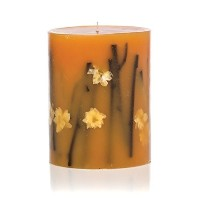 Rosy Rings Honey Tobacco Round Scented Candles, 6.5' [並行輸入品]