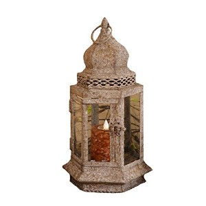 Your Heart's Delight Rustic Renaissance Hexagon Lantern, 7-1/2 by 14-Inch [並行輸入品]