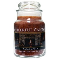 A Cheerful Giver Cozy Cabin Jar Candle, 6-Ounce [並行輸入品]