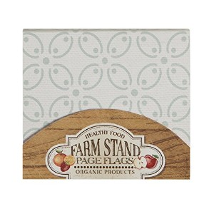 C.R. Gibson QSNF-14119 Farm Stand Cookbook Page Flag Set, Multicolor by C.R. Gibson [並行輸入品]