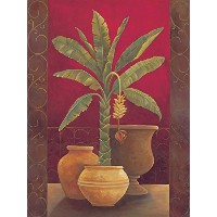 Brewster Round the World 259-74043 Pre-pasted Wall Mural Green Potted Palm, 72-Foot Height x 54...