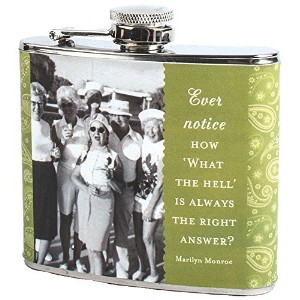 Shannon Martin Girl Designer Flask, What The Hell, Green [並行輸入品]