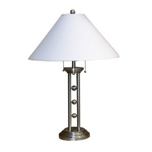 ORE International 6231SN Metal Table Lamp, Silvertone [並行輸入品]