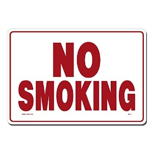 Lynch Signs SS- 1DC 14-Inch x 10-Inch Sticker No Smoking Decal, Red/White [並行輸入品]