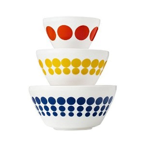 Pyrex Vintage Charm Spot On 3 Piece Mixing Bowl Set, inspired by Pyrex by Pyrex