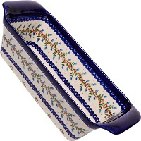 Polish Pottery Ceramika Boleslawiec-1207/166, Bread Meatloaf Baker, 12-3/4 by 5-3/8-Inch [並行輸入品]