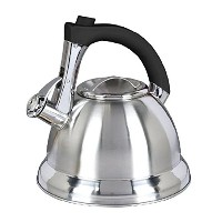 Mr Coffee Collins Brook Tea Kettle with Black Handle and Push Button Spout Trigger, 2.4 quart,...
