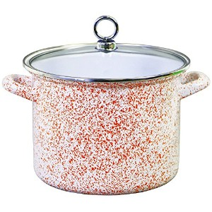 Calypso Basics 78950 Enamel Stock Pot, 8 quart, Orange [並行輸入品]