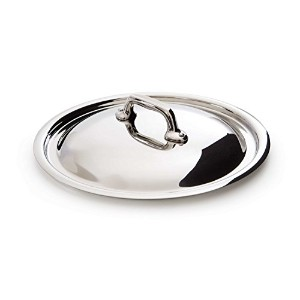 Mauviel M'Cook 5 Ply Stainless Steel 5218.24 9.5 Inch Lid, Cast Stainless Steel Handle [並行輸入品]
