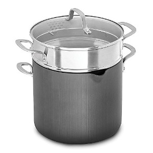 Calphalon 1932446 Classic Nonstick Stock Pot, 8 quart, Grey [並行輸入品]