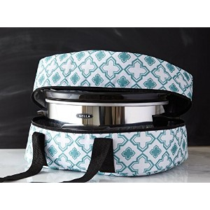 iEnjoyware Slow Cooker Insulated Tote - 15 X 11 X 8 Inches - Teal [並行輸入品]