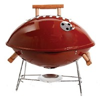 Gibson 107189.01 Home Football BBQ Steel Grill with Wood Handle, 18-Inch, Brown [並行輸入品]