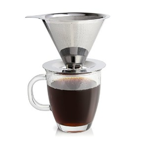 Ruzels- Dripper Coffee maker - Single Serve- Coffee Brewer -Pour Over Coffee Maker- Reusable Double...