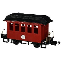 Bachmann Industries Li'L Big Haulers Coach G-Scale Short Line Railroad with Red/Black Roof, Large ...