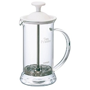 Hario TPS-2W 2-Cup Tea Presso Slim, 300ml, White [並行輸入品]