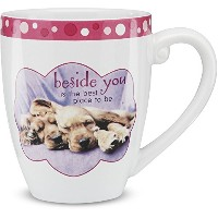Shaded Pink by H2Z 27013 17-Ounce Beside You Dog Mug, 4-3/4-Inch [並行輸入品]