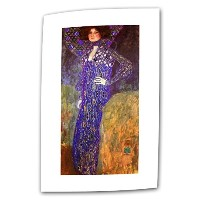 Art Wall Emilie Floege 8 by 18-Inch Flat/Rolled Canvas by Gustav Klimt with 2-Inch Accent Border ...