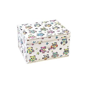 Mucky Fingers Childrens Girls Magic Box Owl Design Foldable Storage Chest (One Size) (Multicolored)...