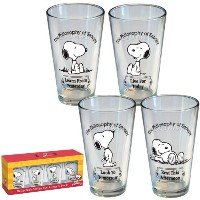 ICUP Peanuts Philosophy of Snoopy Pint Glass by ICUP