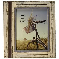 Prinz Rustic River Wood Frame in Distressed White Finish, 4 by 6-Inch by PRINZ
