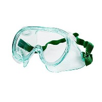 Sellstrom 83210 PVC Lightweight Indirect Vent Small Frame Economy Goggle, Green Tinted Body/Clear...