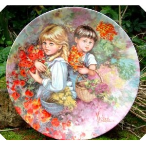 Wedgwood My Memories Our Garden Plate Vickers