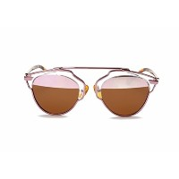 GAMT New Fashion Cateye Polarized Sunglasses For Women Classic Style (pink frame pink-brown lens)