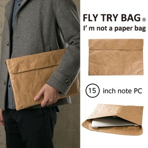 """FLY TRY BAGフライバッグ ノートケース 15""""(ブラウン)【RCP】"""