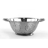 Stainless Steel 3Qt Colander / Strainer 9in Colander by Imperial Home