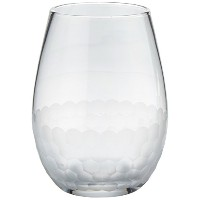 Fitz and Floyd Daphne Stemless Goblet、4のセット、クリア