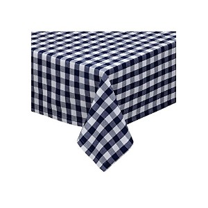 Design Imports 27917 Nautical & White Checkers Tablecloth, 60 x 84 in.