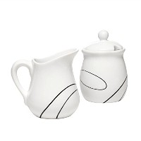 Corelle Simple Lines Sugar and Creamer by CORELLE