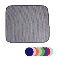 Jovilife Dish Drying Mat Kitchen Mat(set of 2) Microfiber Absorbent Washable, 16*18 Inch, Grey by...