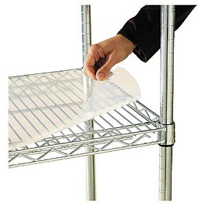 Alera 34.6 -Inch by 17.3 -Inch Clear Plastic Shelf Liners for Wire Shelving, 4-Pack [並行輸入品]