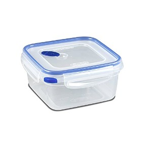 Sterilite 03324706 Ultra-Seal 5.7 Cup Food Storage Container, See-Through Lid & Base with Blue...
