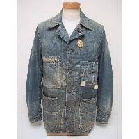 HEADLIGHT[ヘッドライト] カバーオール 11oz.DENIM WORK COAT Made In USA (HARD-WASH)