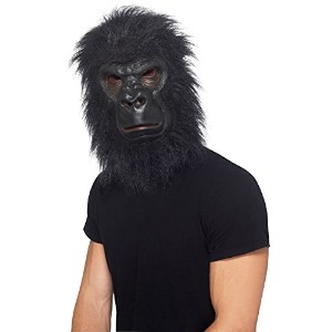 Smiffys Men's Black Gorilla Mask - One Size