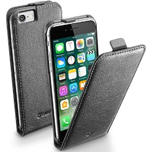 Cellularline iPhone7 ケース 縦開き ブラック FLAP ESSENTIAL for iPhone7