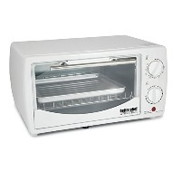 0.32 cu. ft. Toaster Oven Broiler Color: White by Better Chef