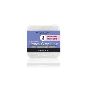 Dashing Diva - French Wrap Plus White - Thick French Band - Refill Size #3