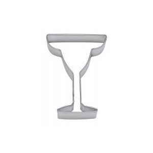 1 X MARGARITA GLASS cookie cutter 4 IN B1470 by MOLDS AND THINGS
