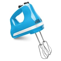 KitchenAid KHM512CL 5-Speed Ultra Power Hand Mixer, Crystal Blue by KitchenAid
