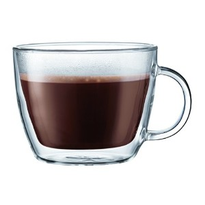 Bodum Bistro 2 Piece Double Wall 0.45 L 15 oz Cafe Latteカップ、クリア